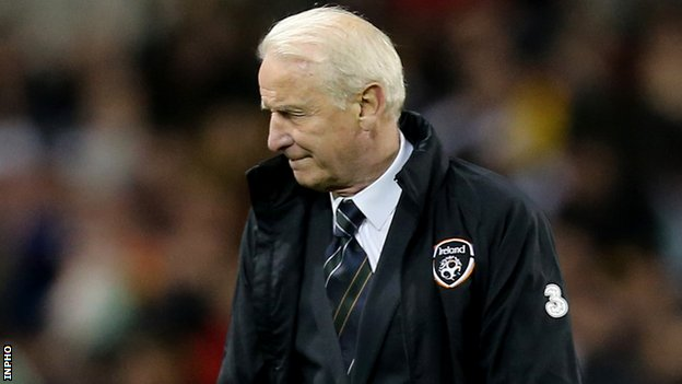 Giovanni Trapattoni turns away after Germany score their fourth goal in Friday's 6-1 hammering