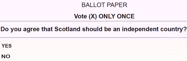 A possible ballot paper question