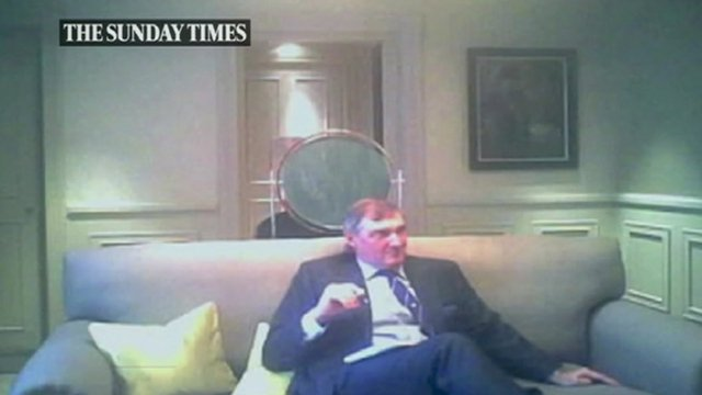 Still from Sunday Times footage of Adm Sir Trevor Soar