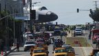 Endeavour makes its way through LA streets (12/10/12)