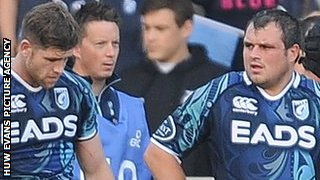 Cardiff Blues are dejected at Sale where they led 24-9 after 38 minutes only to lose 34-33 in the Heineken Cup