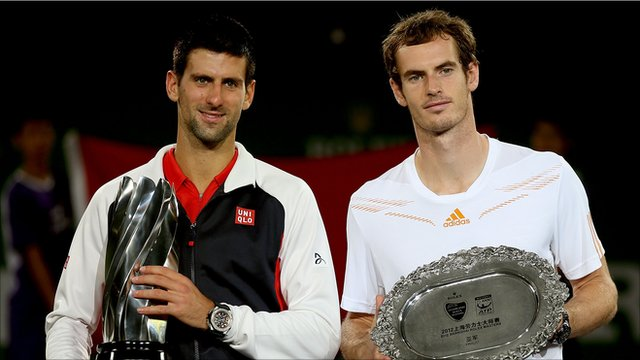 Novak Djokovic and Andy Murray at the Shanghai Open