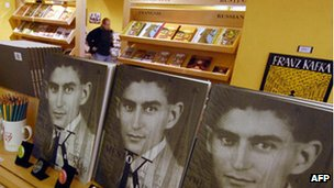 Kafka books on sale in Prague
