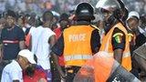 Senegal riot police