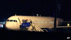 Plane at Ankara airport