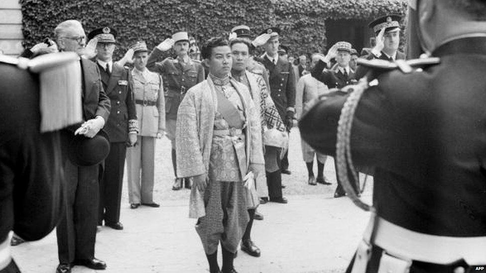 Norodom Sihanouk en france