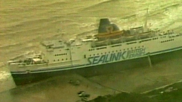 Beached ferry