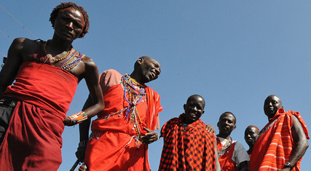 Maasai men in Kenya