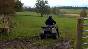 Farmer on quad bike (generic)