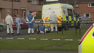 Scene of Carlisle stab murder