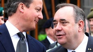 David Cameron and Alex Salmond, pictured in 2011