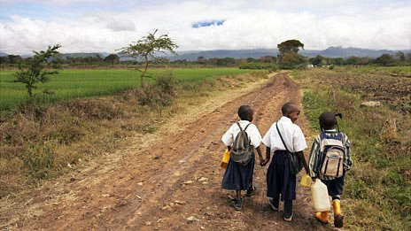 Rural school pupils in Tanzania