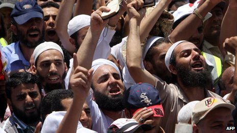 Salafist protesters in Cairo