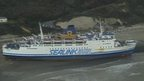 Sealink ferry grounded off Folkestone