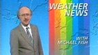 Michael Fish's infamous weather forecast of October 15th 1987, in which he said 'Earlier on today apparently a lady rang the BBC and said she heard that there was a hurricane on the way. Well don't worry if you're watching, there isn't.'