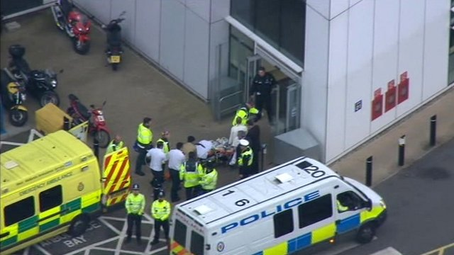 Malala Yousafzai arriving at hospital