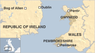 Map showing key locations in Greenwire plan