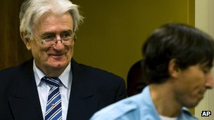 Radovan Karadzic at The Hague, 16 October 2012