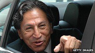 Peruvian ex-president Alejandro Toledo