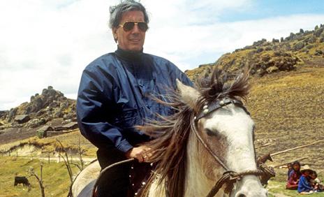 Peruvian author Mario Vargas Llosa