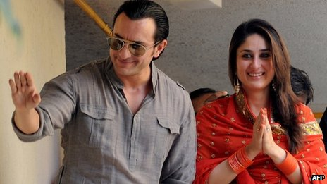 Saif Ali Khan and Kareena Kapoor after their wedding