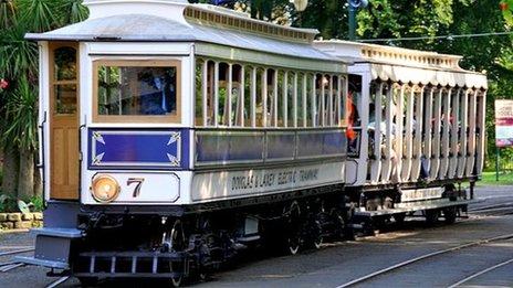 Tram No.7 at Laxey station, courtesy of David Lloyd-Jones