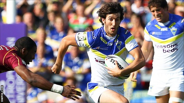Warrington Wolves centre Stefan Ratchford