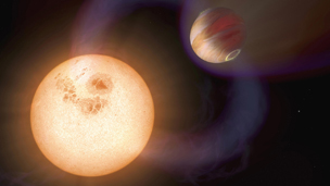 Artist&#039;s impression of an exoplanet