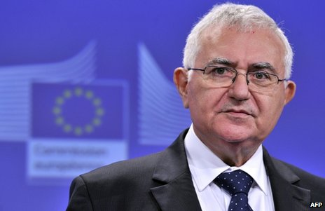 John Dalli at a news conference in Brussels, 17 July 2012