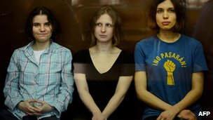 Members of feminist punk band Pussy Riot