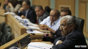 Abdullah Ensour addresses the House of Representatives (25 August 2011)