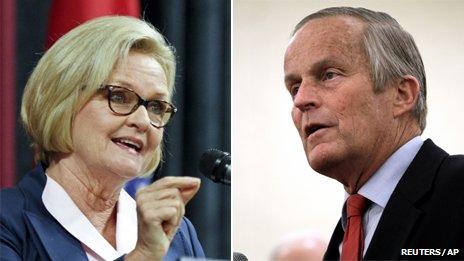 Senator Claire McCaskill and Rep Todd Akin