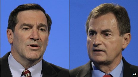 Joe Donnelly and Richard Mourdock