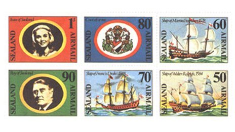 Sealand stamps