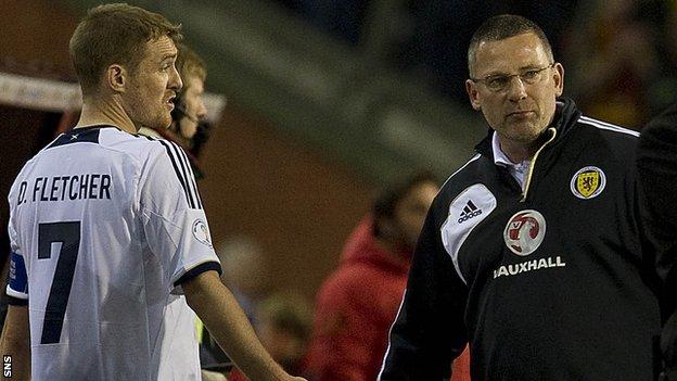 Scotland captain Darren Fletcher and manager Craig Levein