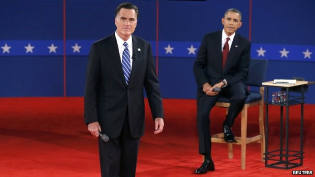 Mitt Romney and Barack Obama