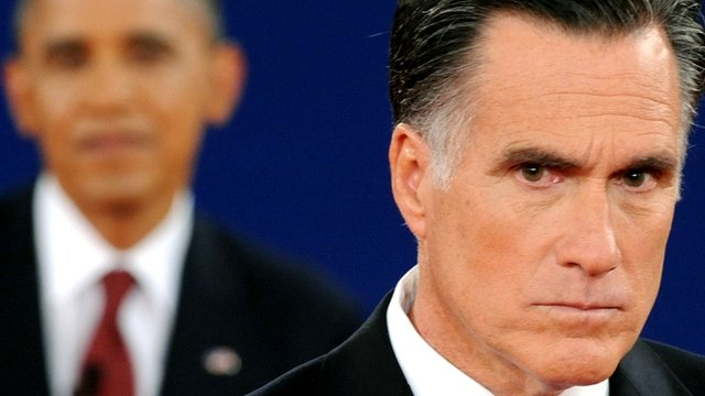 Barack Obama and Republican challenger Mitt Romney