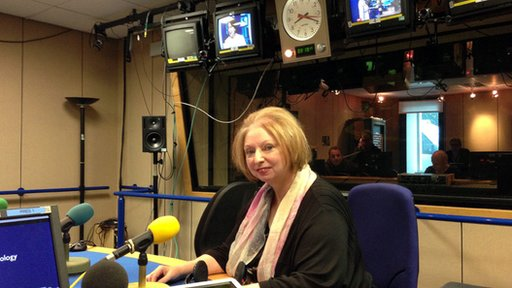 Hilary Mantel in the Today studio