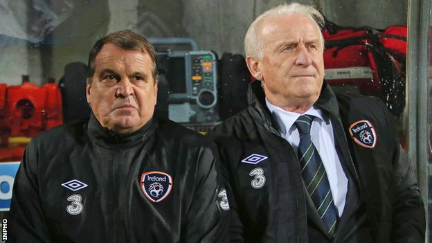 Giovanni Trapattoni and his assistant Marco Tardelli