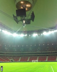Warsaw Stadium roof