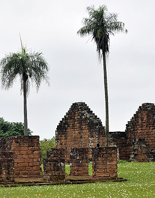 The ruins of the Jesuit Missions at Santisima Trinidad del Parana