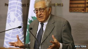 Lakhdar Brahimi in Beirut (17 October 2012)