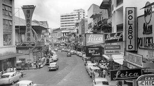 Panama City's Avenida Central ca 1965
