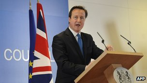 UK PM David Cameron in Brussels, 2 Mar 12