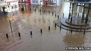 Flooding in Whitehaven