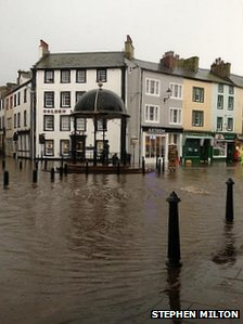 Flooding in Whitehaven
