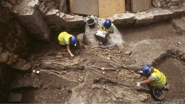 Archaeological excavation at the Royal London Hospital in Whitechapel, London