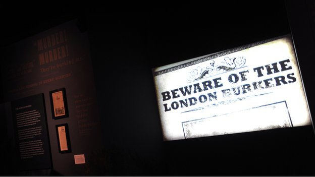 A multimedia presentation on display at the Museum of London