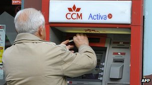 Spanish cashpoint - file pic