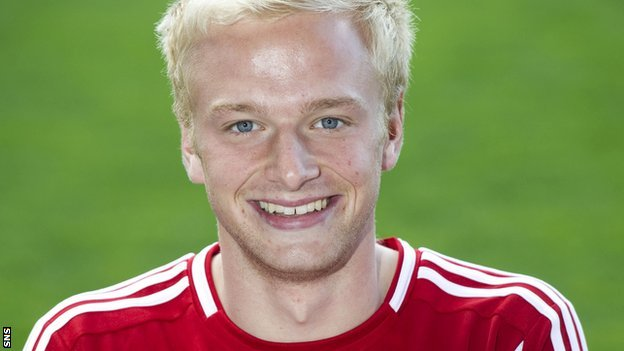 Aberdeen midfielder Jordon Brown